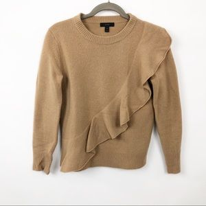 J Crew Ruffle Crewneck Sweater